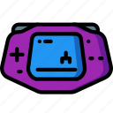 advance, console, gameboy, handheld, retro, tech, video game icon