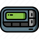 comunication, mobile, page, pager, retro, tech, text icon