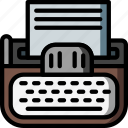 retro, type, typing, ultra, write, writter icon