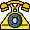 bell, call, dial, phone, retro, ring, telephone icon