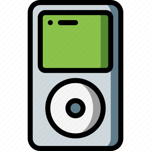 Apple, ipod, mp3, music, player, portable, retro icon - Download on Iconfinder