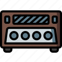 eight, hifi, player, retro, stereo, track icon