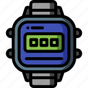 digital, lcd, retro, sony, tech, watch icon