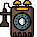 bell, dial, phone, retro, ring, telephone icon