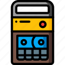 cassette, recorder, retro, stereo, tape, tech icon