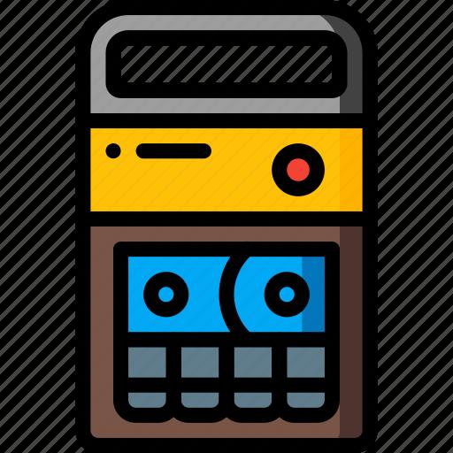 cassette, recorder, retro, stereo, tape, tech icon