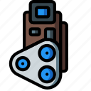 camera, film, flash, photography, radio, retro, ultra icon