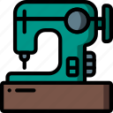 machine, retro, sewing, singer, stiches, stiching icon