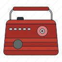audio, music, news, radio, retro, show, song icon