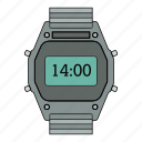 date, day, moment, retro, time, watch icon