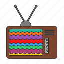 ads, retro, shows, soap operas, television, tv, tv set icon