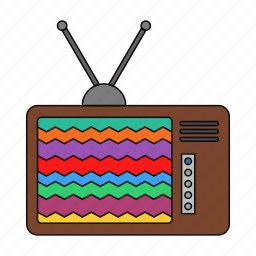 ads, retro, shows, soap operas, television, tv, tv set icon
