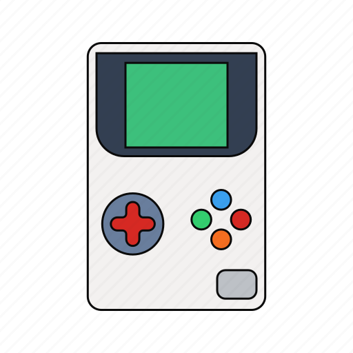 buttons, gamepad, games, green, play, retro, screen icon