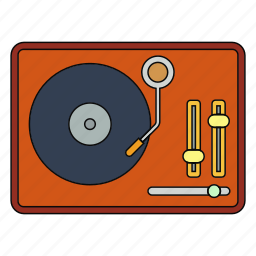entertiment, music, opera, retro, song, turntable, vinyl icon