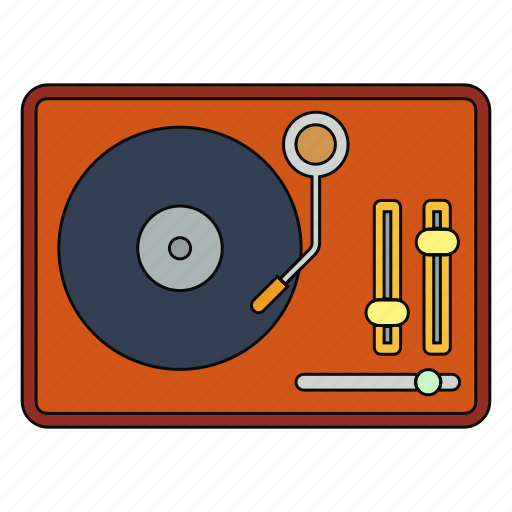entertiment, music, opera, retro, song, turntable, vinyl icon