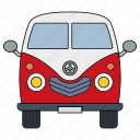 adventure, retro, travel, trip, van, voyage, world icon