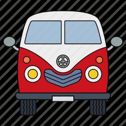adventure, retro, travel, trip, van, voyage, world icon