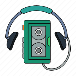 cassette, mp3, music, music player, play, retro, song icon