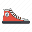 boots, fashion, men, orange, retro, shoes, wear icon
