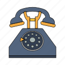 call, calling, home, number, phone line, retro, telephone icon