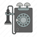 alo, call, calling, number, phone line, retro, telephone icon