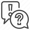 bubble, chat, faq, help, info, information, support icon