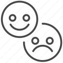 feedback, hate, like, reviews, testimonial, opinion, unlike icon
