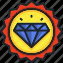 diamond, quality, badge, award, rewards