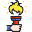 torch, flame, olympic, sports, games