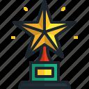 trophy, award, star, achievement, champion