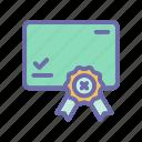 archievement, badge, certificate, medal, reward icon