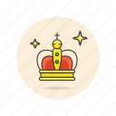 achievement, award, chess, crown, king, prize, reward icon