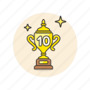 achievement, award, cup, prize, rank, reward, top, trophy icon