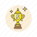 achievement, award, cup, prize, rank, reward, top icon