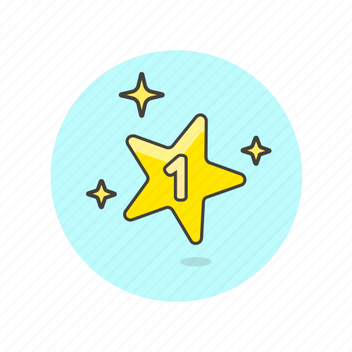 achievement, award, one, prize, reward, star, top, winner icon