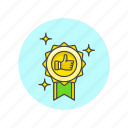 achievement, award, badge, prize, reward, success, winner icon