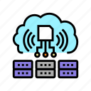 servers, storaging, info, from, rfid, security icon