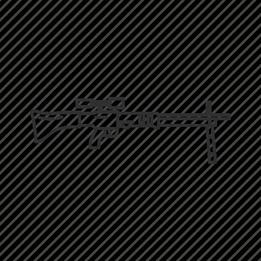 army, fallschirmjagergewehr 42, guns, military, rifle, war, weapons icon