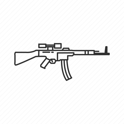 army, guns, military, rifle, sturmgewehr 44, war, weapons icon