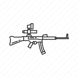 army, military, projectile, rifle, sturmgewehr 45, war, weapons icon