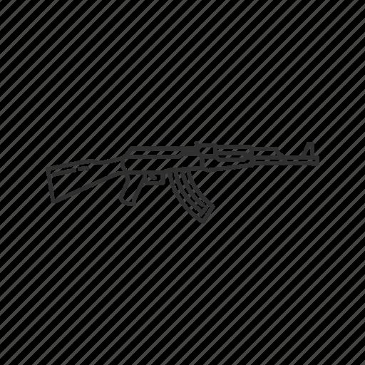 army, guns, kalashnikov ak 47, military, projectile, rifle, weapons icon