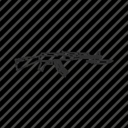 ak 47, army, guns, military, projectile, war, weapons icon