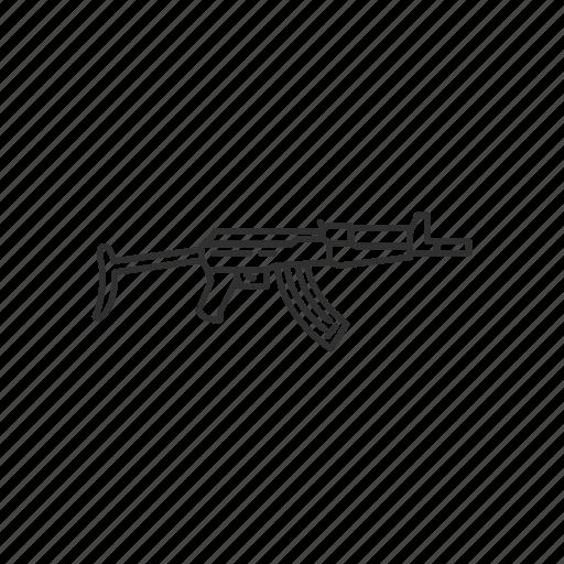 Army, guns, kalashnikov aks, military, projectile, war, weapon icon - Download on Iconfinder