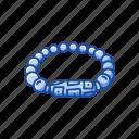 accessory, beads, bracelete, fashion, gem, jewelry icon