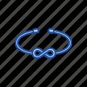 accessory, bracelet, fashion, infinity bracelet, jewelry icon