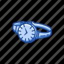 accessory, fashion, jewelry, time, watch, wrist watch icon