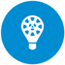 blue, energy, lamp, light, nuclear, round icon