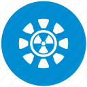 blue, radiation, round icon