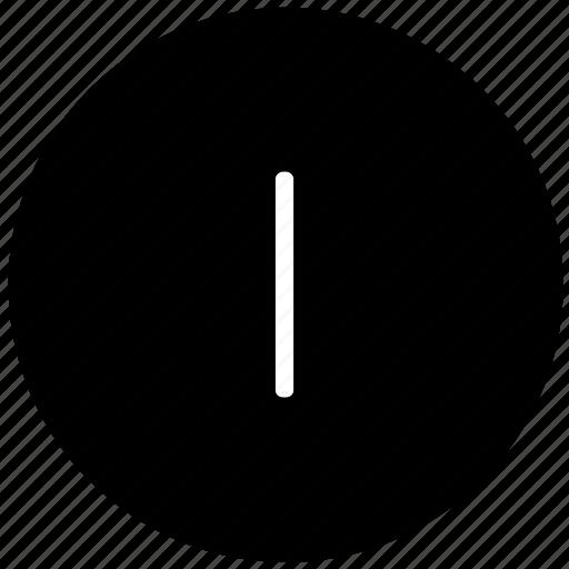 i, key, keyboard, letter, round icon