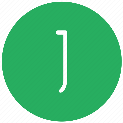 green, j, key, keyboard, letter icon